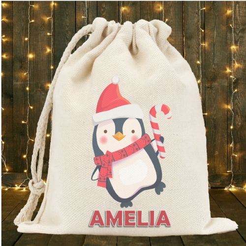 Personalised Santa Sack N5 - Penguin